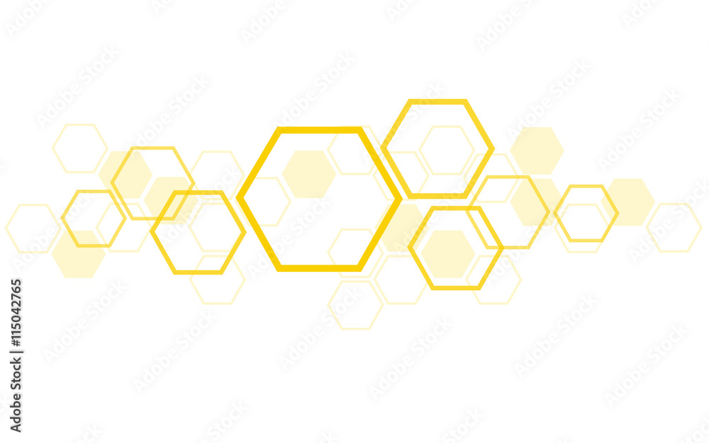 Fototapety, obrazy: the shape of hexagon concept design abstract technology background vector EPS10