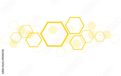 Photo the shape of hexagon concept design abstract technology background vector EPS10