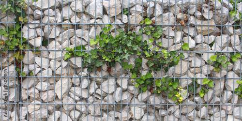 Fotografie, Obraz  Gabions en grillage métallique avec pierres