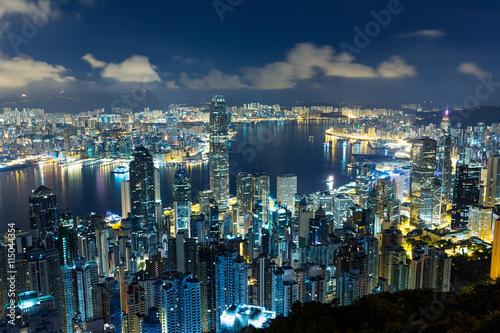 Foto op Canvas Seoel Hong Kong night