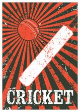 Cricket Typographical Vintage ...