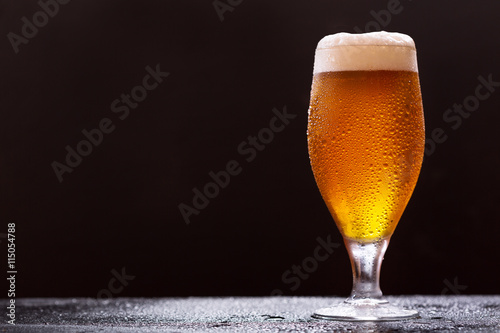 Canvas Prints Beer / Cider glass of beer