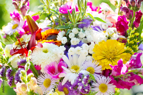 obraz dibond bouquet of summer flowers