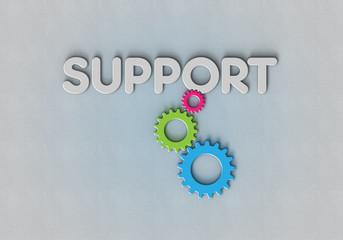 Support - Zahnrad - Typo - B