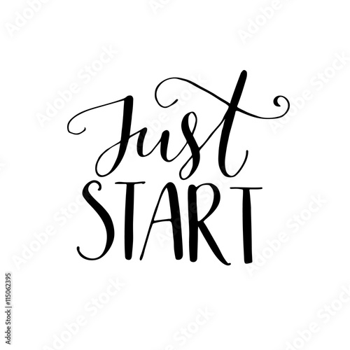 Just start Wallpaper Mural