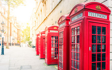 Red Telephone Boxes In UK, Lon...