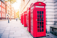 Red Phone Boxes In London