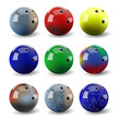 Assorted bowling balls