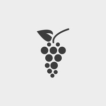 Grapes Icon In A Flat Design I...