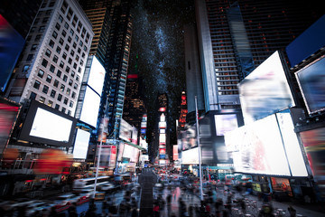 Fototapeta Miasto nocą Times Square Manhattan New York