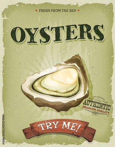 plakat-grunge-i-vintage-oyster-shell