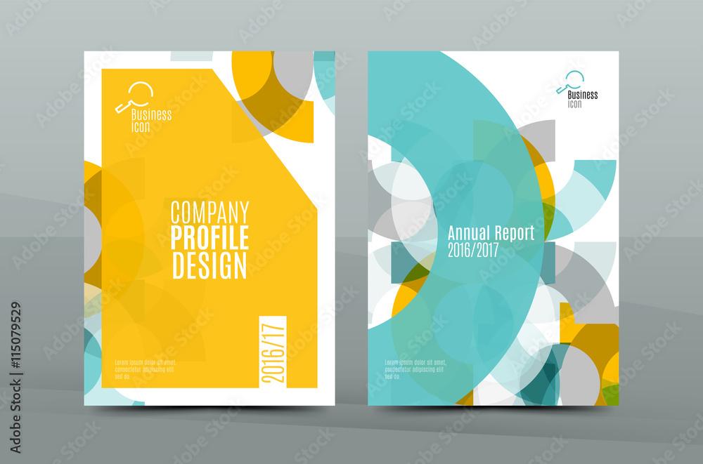 Fototapeta Geometric mosaic design, a4 size business corporate correspondence letter cover
