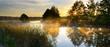 Leinwandbild Motiv Sunset over river