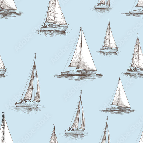pattern of the sailboats