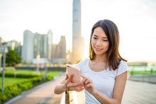 Young Woman Use Of Mobile Phon...