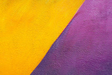 Colorful (yellow And Purple) Brick Wall As Background, Texture