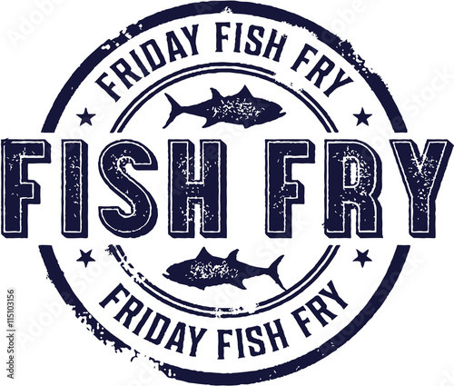 Slika na platnu Vintage Friday Fish Fry Sign