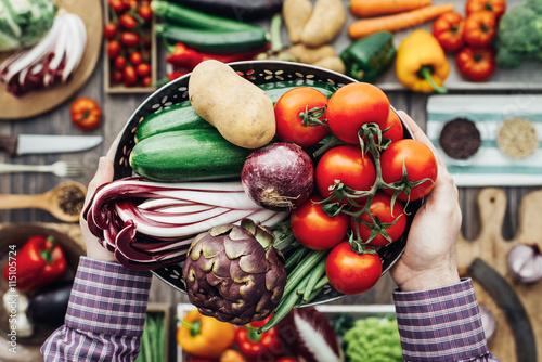 Recess Fitting Vegetables Freshly harvested vegetables