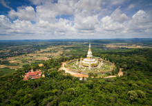 Aerial View Wat Pha Nam Yoi, Pha Nam Yoi Temple, Roi Et Thailand