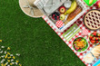 canvas print picture - Picnic at the park