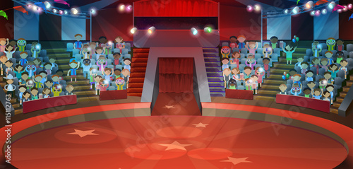 Fotografie, Obraz  Circus arena, vector background