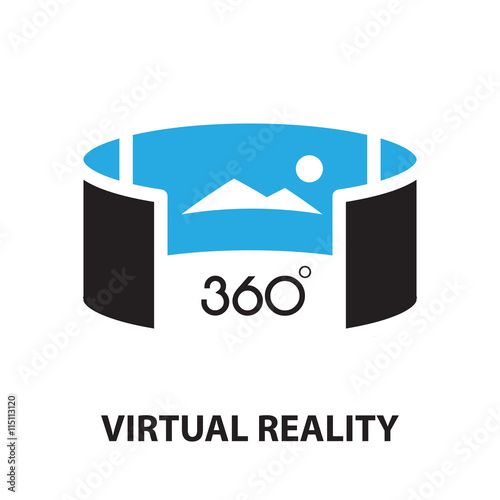 Poster  virtual reality ,icon and symbol