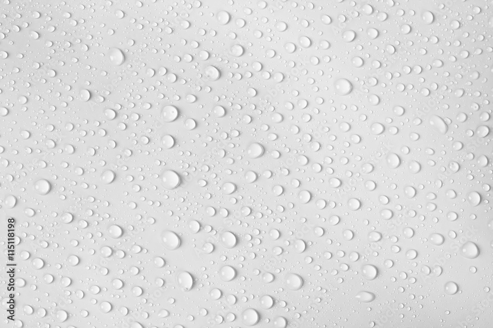 Fototapeta water drop on white background