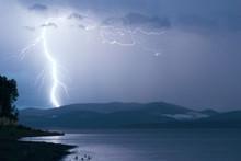 Storm Over Yenisei River, At S...