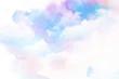 Leinwandbild Motiv Watercolor illustration of cloud.