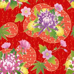 FototapetaVector seamless asian traditional pattern.