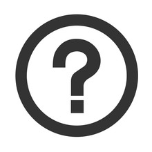 Question Mark Icon Isolated On A White Background. Vector Illustration.