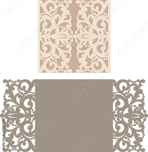 Laser Cut Invitation Card. Laser cutting pattern for invitation ...