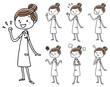 看護師の女性: ポーズ バリエーション