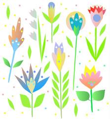 FototapetaOrnamental, traditional, simple seamless pattern with flowers