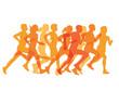 Gruppe von Läufer
