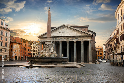 Fotobehang Monument Pantheon in Rome, Italy