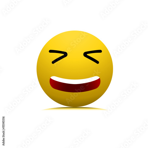 Smile Laughing Face Vector Isolated Symbol Sign Icon Emoticon