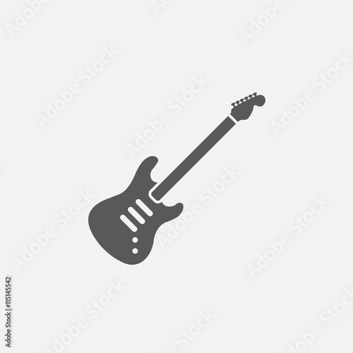 Foto  electric guitar icon vector, solid logo illustration, pictogram isolated on whit