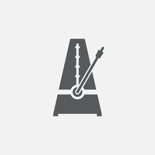 Metronome Icon Vector, Solid Logo Illustration, Pictogram Isolated On White