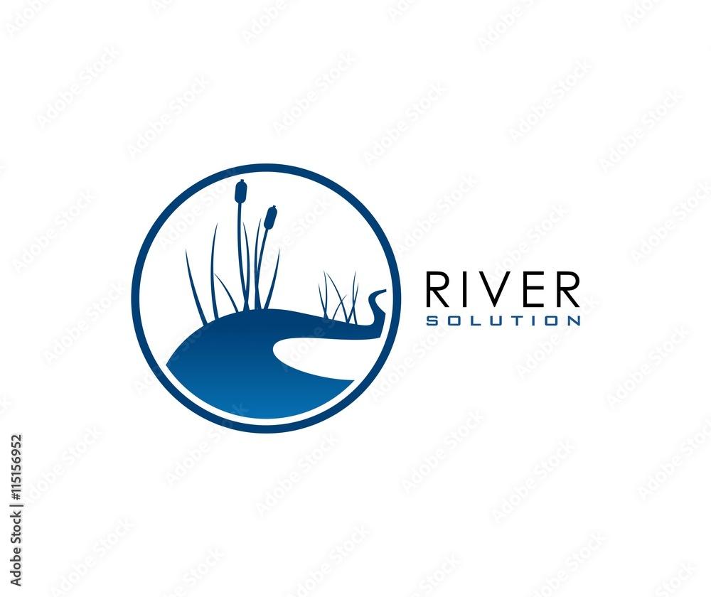 Fototapety, obrazy: River logo