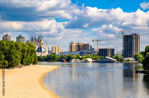 Foto op Plexiglas Kiev View of Kiev, Ukraine.Banks of the Dnieper river