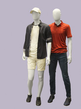 Two Male Mannequins.