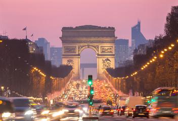 Obraz na Szkle Paryż Paris Arc of Triomphe