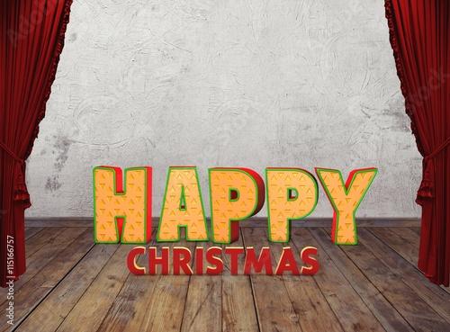 Poster  HAPPY NEW YEAR, Merry Christmas, Noel