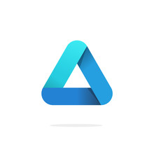 Triangle Logo With Rounded Cor...