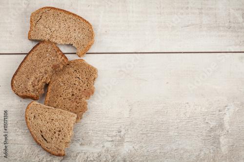 Fotografie, Obraz  zwieback on wood background