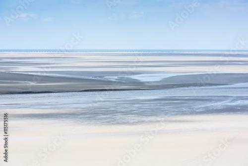 Obraz na płótnie Mont Saint Michel see bay during the low tide. France