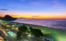 Sunrise On Copacabana And Leme...