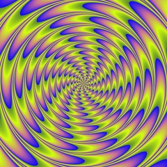 Fototapeta Abstrakcja Abstract colorful illustration of hypnotic bright spiral
