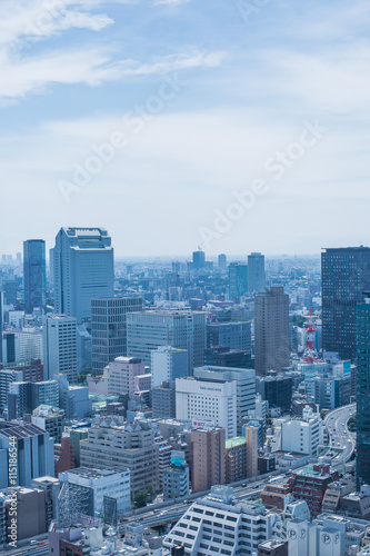 Aluminium Prints Blue 東京都市風景